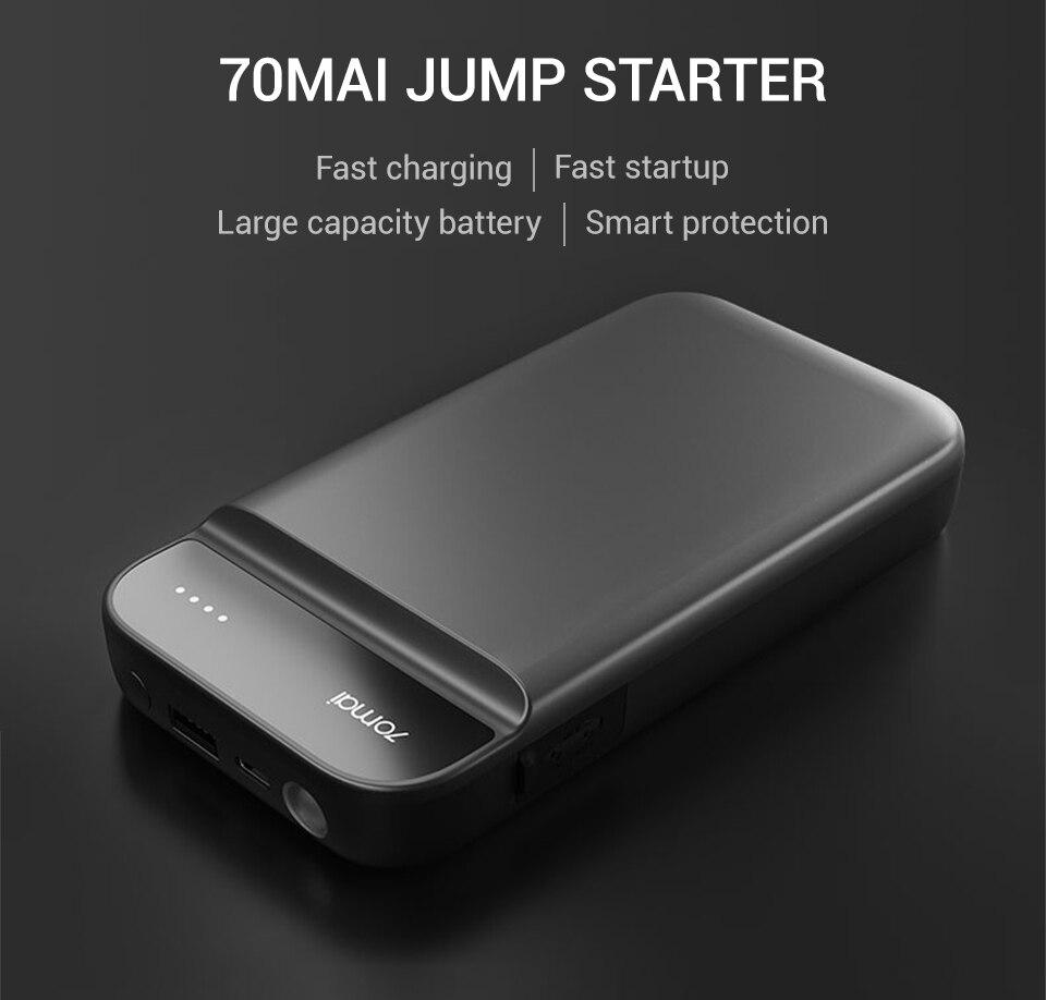 Xiaomi 70mai Jump Starter 70Mai Car Jump Starter Battery Power Bank Cars Starter Auto Buster Car Emergency Booster Engine Start